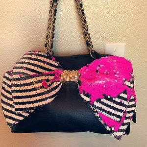 Betsey Johnson Mermaid Sequins Big Bow Purse